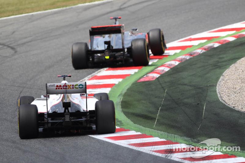 Jenson Button, McLaren en Kamui Kobayashi, Sauber
