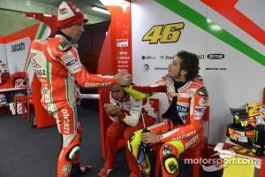 Nicky Hayden and Valentino Rossi