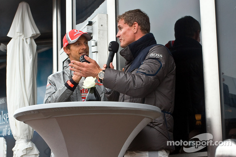 Jenson Button en David Coulthard