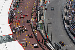 Cars in the pits