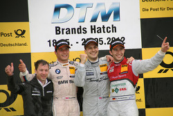 Gary Paffett, Team HWA AMG Mercedes, AMG Mercedes C-Coupe, Bruno Spengler, BMW Team Schnitzer BMW M3 DTM, Mike Rockenfeller, Phoenix Racing Audi A5 DTM