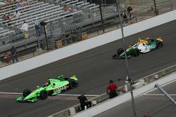 James Hinchcliffe, Andretti Autosport Chevrolet and Simona De Silvestro, Lotus-HVM Racing