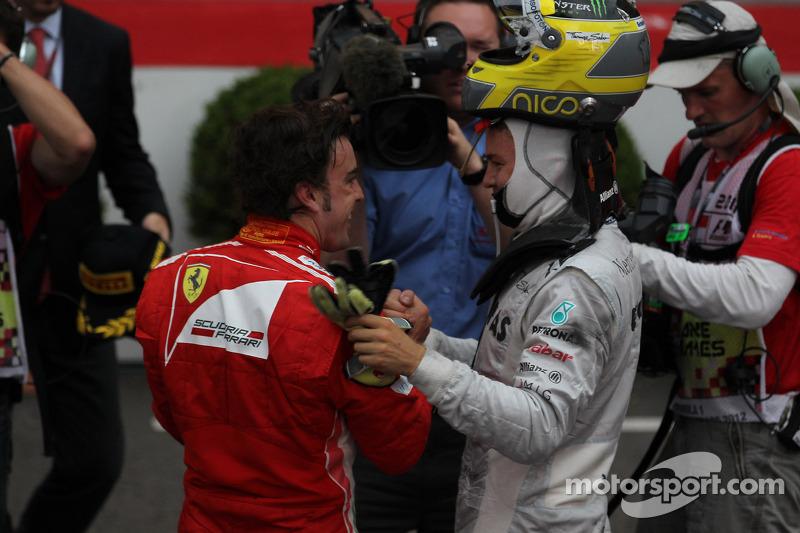 Fernando Alonso, Scuderia Ferrari en Nico Rosberg, Mercedes AMG Petronas