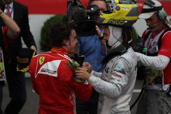 Fernando Alonso, Scuderia Ferrari and Nico Rosberg, Mercedes AMG Petronas