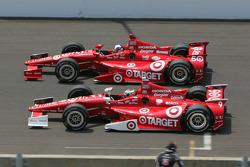 Dario Franchitti, Target Chip Ganassi Racing Honda; Scott Dixon, Target Chip Ganassi Racing Honda