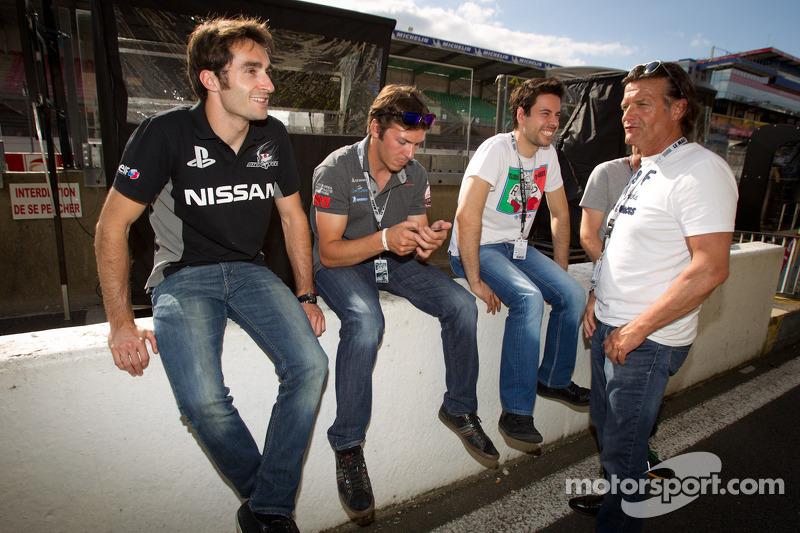 Franck Mailleux, Jean-Karl Vernay, Frederic Makowiecki en Philippe Haezebrouck