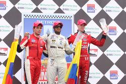 Podium: first place Gustavo Yacaman, second place Carlos Munoz, third place Oliver Webb