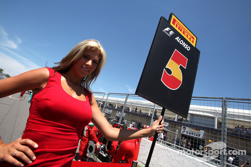 Grid Girl Fernando Alonso Scuderia Ferrari At Canadian Gp