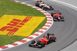 Timo Glock, Marussia F1 Team ve Charles Pic, Marussia F1 Team ve Narain Karthikeyan, HRT Formula 1 Team HRT