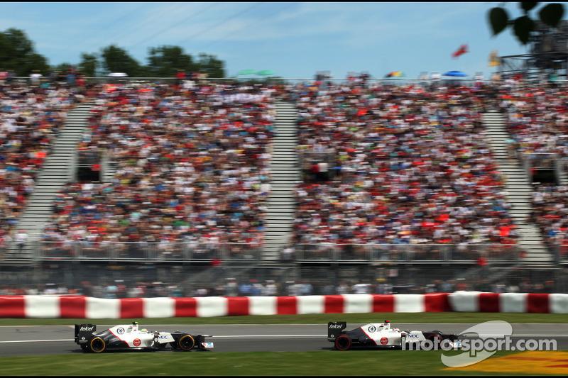 Kamui Kobayashi, Sauber F1 Team en Sergio Perez, Sauber F1 Team