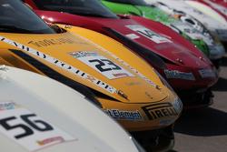 Alex Popow Ferrari of Ft Lauderdale 458TP, Jose Valera Ferrari of Ft Lauderdale 458CS, John Baker Ferrari of San Francisco