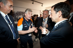 Oak Racing team owner Jacques Nicolet with ACO President Pierre Fillon