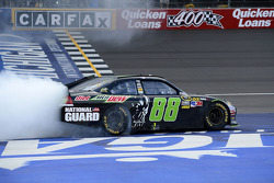 Race winner Dale Earnhardt Jr., Hendrick Motorsports Chevrolet celebrates