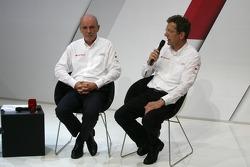 Dr. Wolfgang Ullrich, Audi's Head of Motorsport and Ralf Jüttner, Technical Director Audi Sport Team Joest