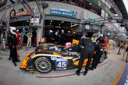 Pit stop for #45 Boutsen Ginion Racing Oreca 03 Nissan: Bastien Brière, Jens Petersen, Shinji Nakano