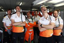 Sahara Force India F1 Team watch qualifying