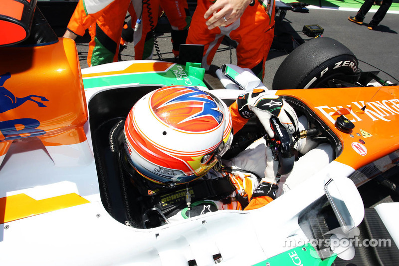 Paul di Resta, Sahara Force India on the grid