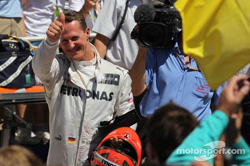 Tercer lugar Michael Schumacher, Mercedes AMG Petronas