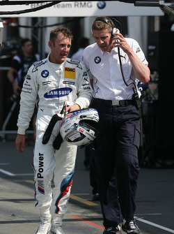 Joey Hand, BMW Team RMG BMW M3 DTM with his Engineer