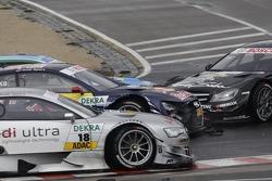 Adrien Tambay, Audi Sport Team Abt Audi A5 DTM, Mattias Ekström, BMW Team RBM BMW M3 DTM and Gary Paffett, Team HWA AMG Mercedes, AMG Mercedes C-Coupe