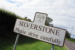Silverstone village road sign