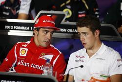 Fernando Alonso, Ferrari and Paul di Resta, Sahara Force India F1 in the FIA Press Conference