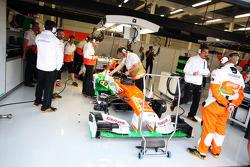 Sahara Force India F1 of Nico Hulkenberg, Sahara Force India F1 in the pits