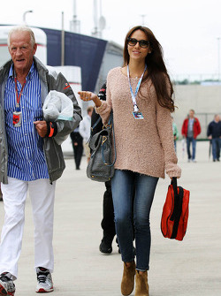 John Button, with Jessica Michibata, girlfriend of Jenson Button
