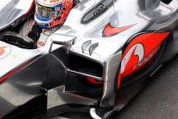 Jenson Button, McLaren sidepod detail