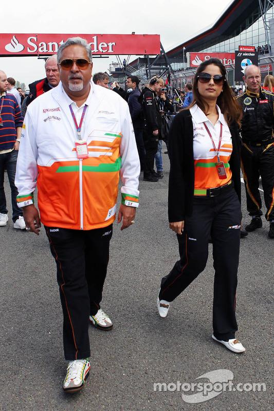 Dr. Vijay Mallya, Sahara Force India F1 Teambaas op de grid