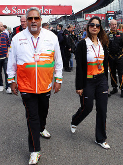 Dr. Vijay Mallya, Sahara Force India F1 Teambaas op de grid