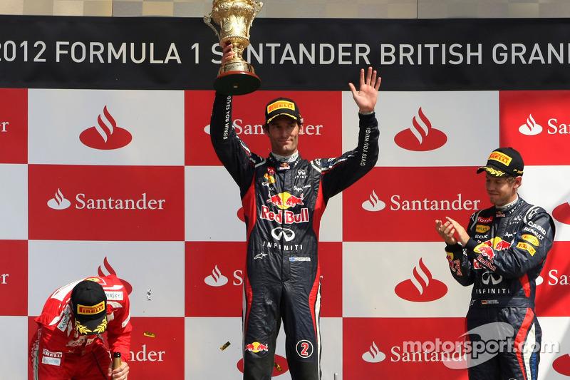 Fernando Alonso, Scuderia Ferrari, Mark Webber, Red Bull Racing and Sebastian Vettel, Red Bull Racing