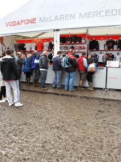 Muddy merchandise area