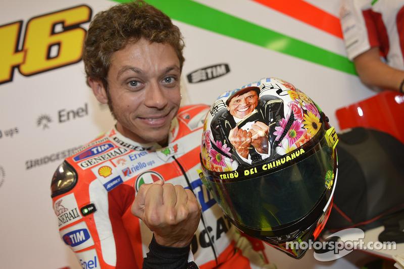 Casco especial para Valentino Rossi