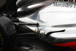 McLaren exhaust and rear suspension detail