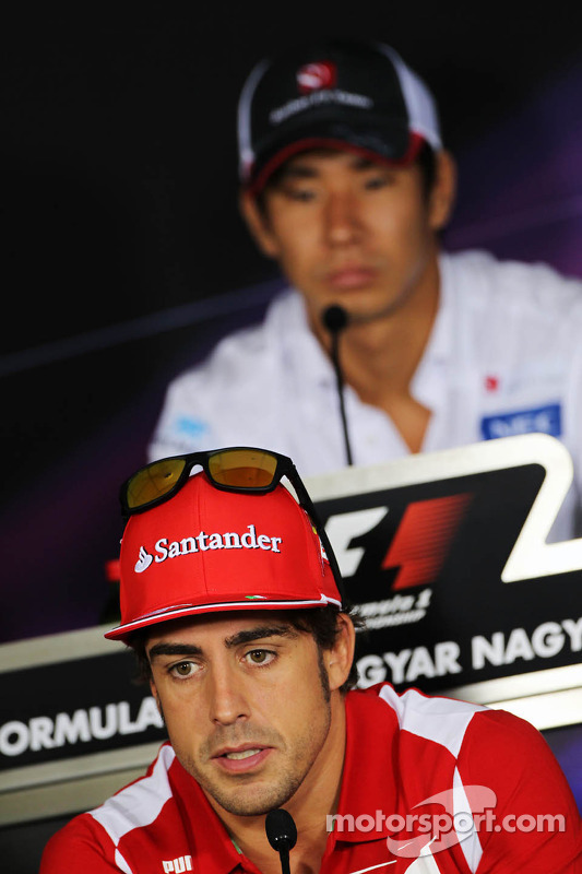 Fernando Alonso, Ferrari in de FIA persconferentie