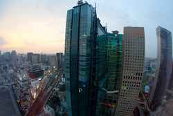 A view of Shiodome district in Tokyo