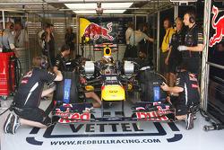 Sebastian Vettel, Red Bull Racing in the pits