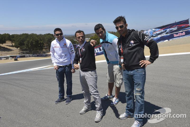 Loris Capirossi met Michele Pirro, Honda Gresini en vrienden