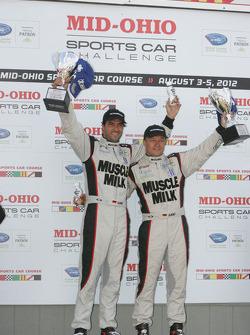 P1 podium: winners Lucas Luhr, Klaus Graf