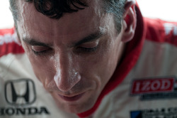 Justin Wilson showing signs of the heat