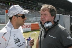 Gary Paffett, Team HWA AMG Mercedes, AMG Mercedes C-Coupe and Gerhard Ungar, Chief Designer AMG