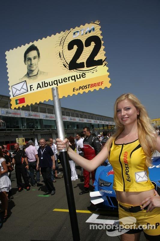 Gridgirl für Filipe Albuquerque, Audi Sport Team Rosberg, Audi A5 DTM
