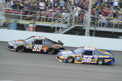 Carl Edwards, Roush Fenway Racing Ford and Martin Truex Jr., Michael Waltrip Racing Toyota