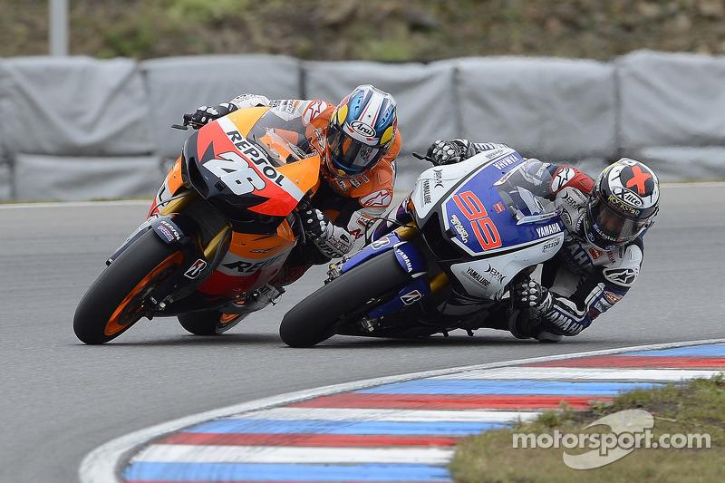 Dani Pedrosa, Repsol Honda Team and Jorge Lorenzo, Yamaha Factory Racing