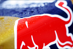 Red Bull Racing with covered in rain drops