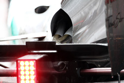 Rear exhaust detail on the Mercedes AMG F1 of Michael Schumacher, Mercedes AMG F1