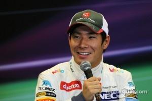 Kamui Kobayashi, Sauber in the post qualifying FIA Press Conference