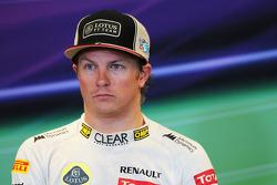 Third placed Kimi Raikkonen, Lotus F1 Team in the FIA Press Conference