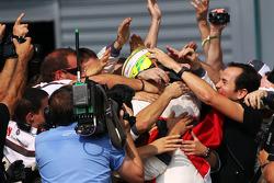 Second place Sergio Perez, Sauber